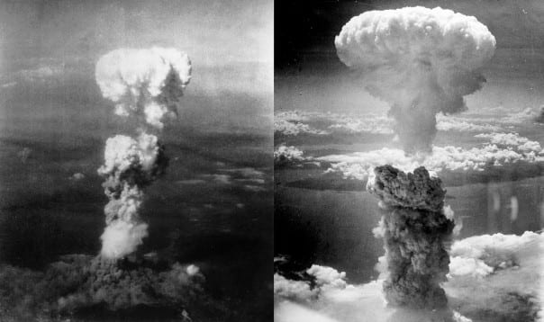 Hiroshima & Nagasaki taken by Charles Levy from a B-29