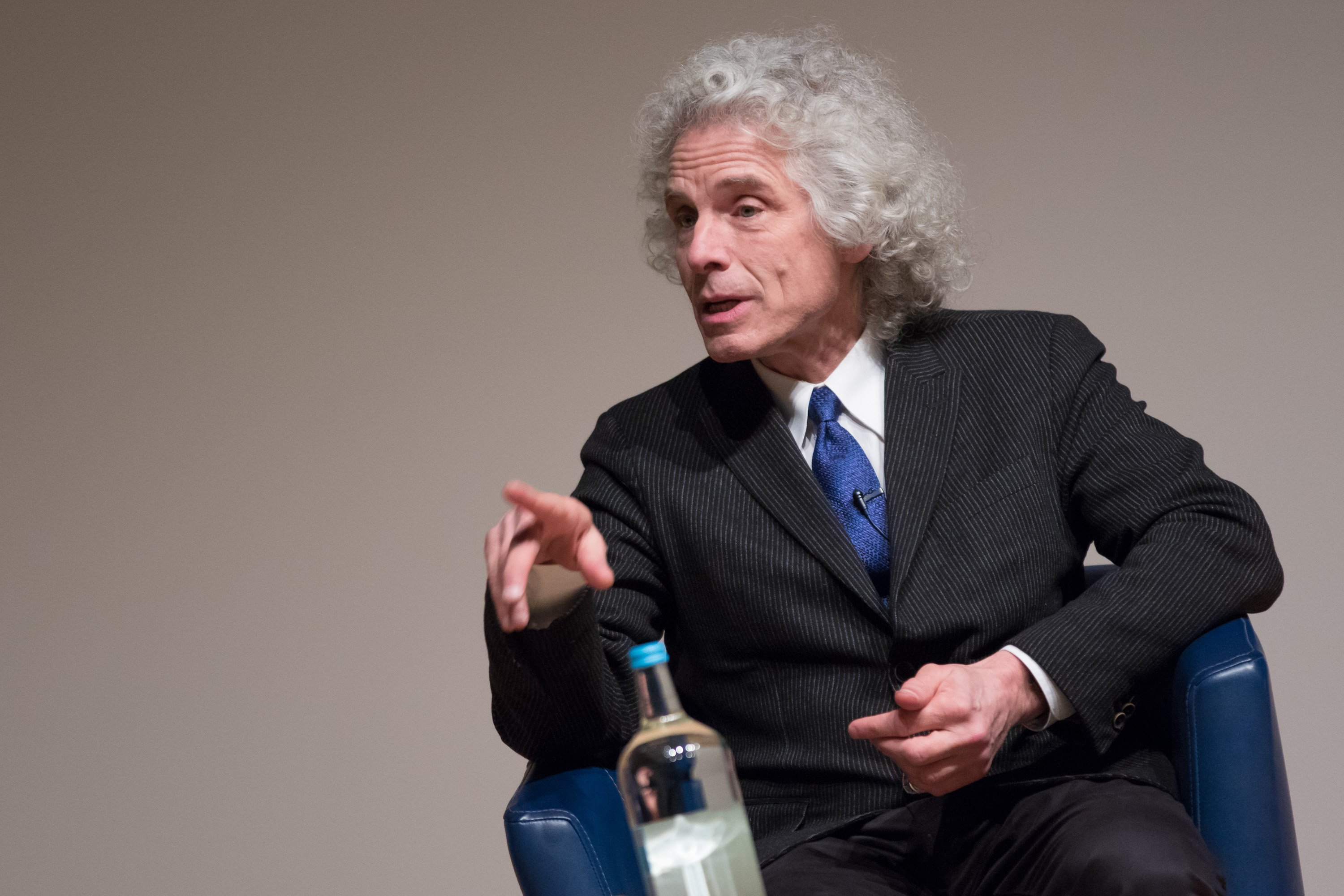 Steven Pinker during a lecture for Humanists UK